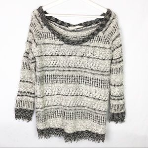 Zara Knit cotton blend sweater